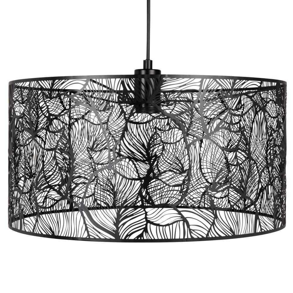 Lámpara de techo de alambre de metal negro