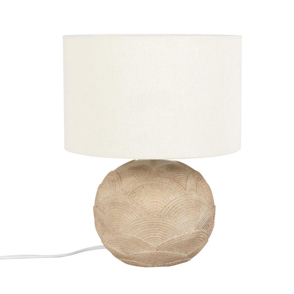 Lampe beige et abat-jour blanc