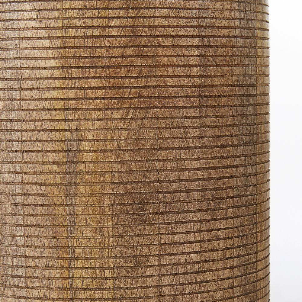 Lampe en manguier recyclé abat-jour en coton noir