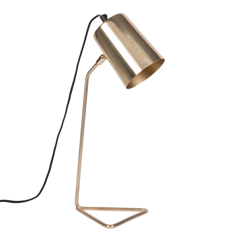Lampe en métal doré