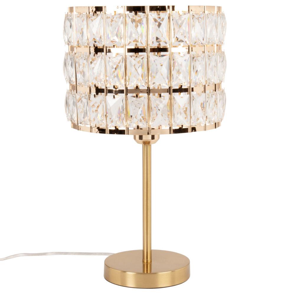 Lampe en métal doré et abat-jour en acrylique