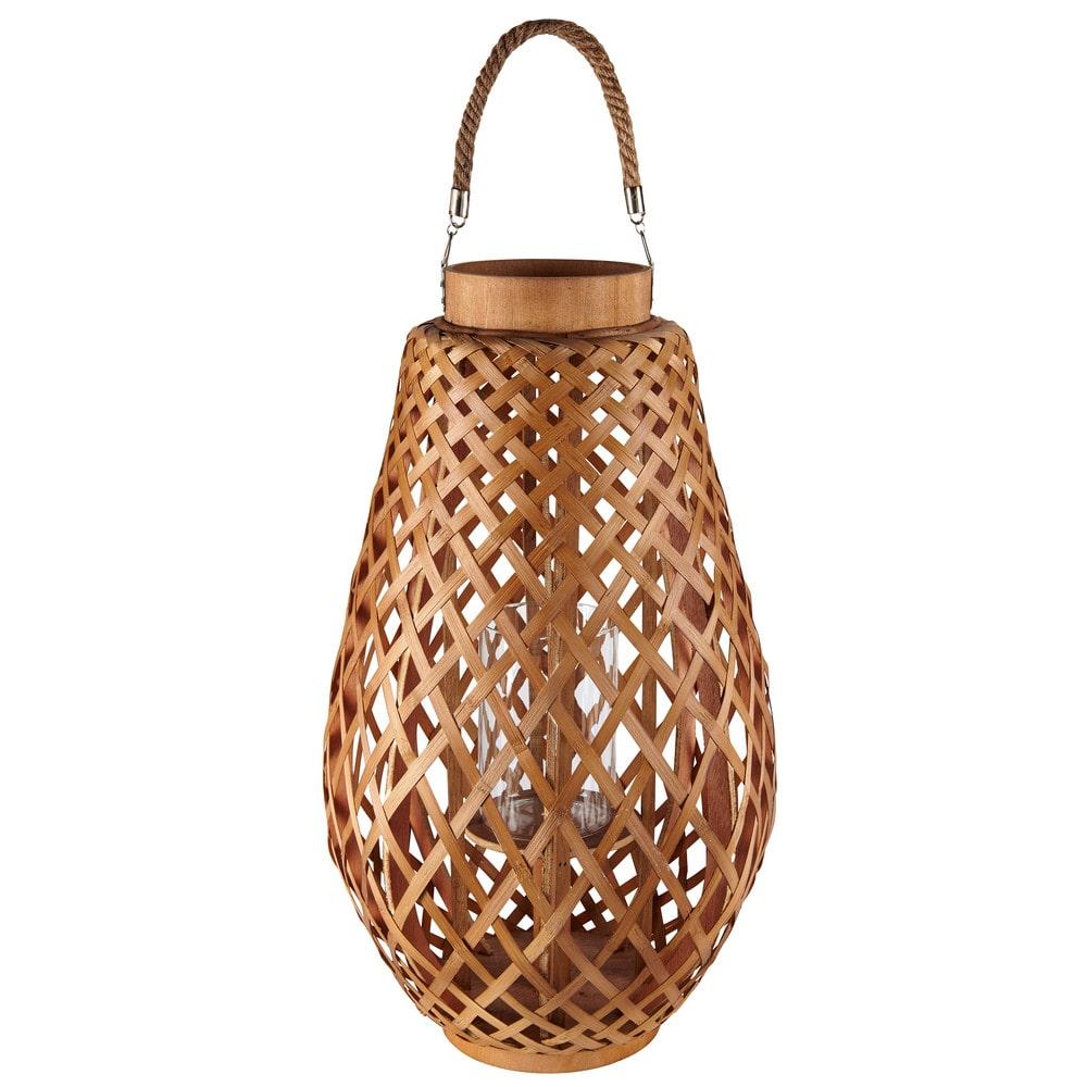 Lanterne en bambou et corde