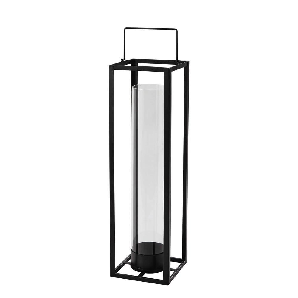 Lanterne en métal noire H 69 cm