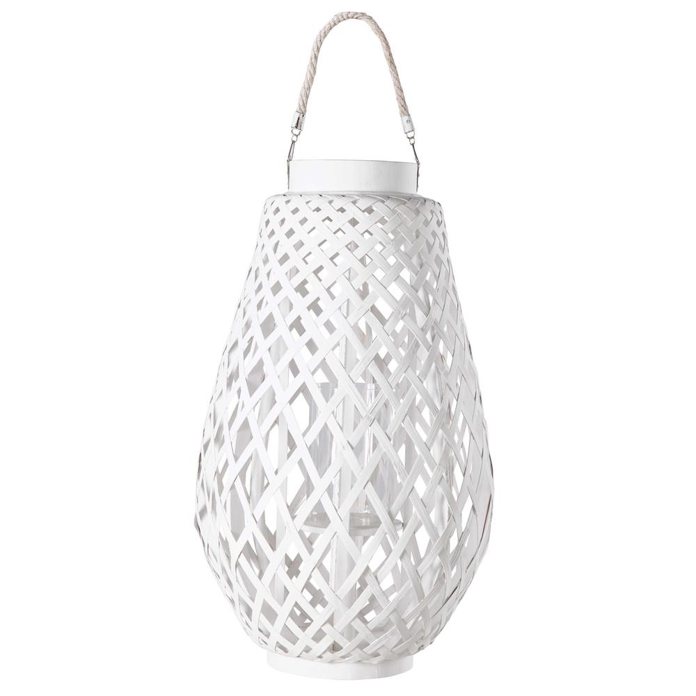Lanterne en tressage blanc