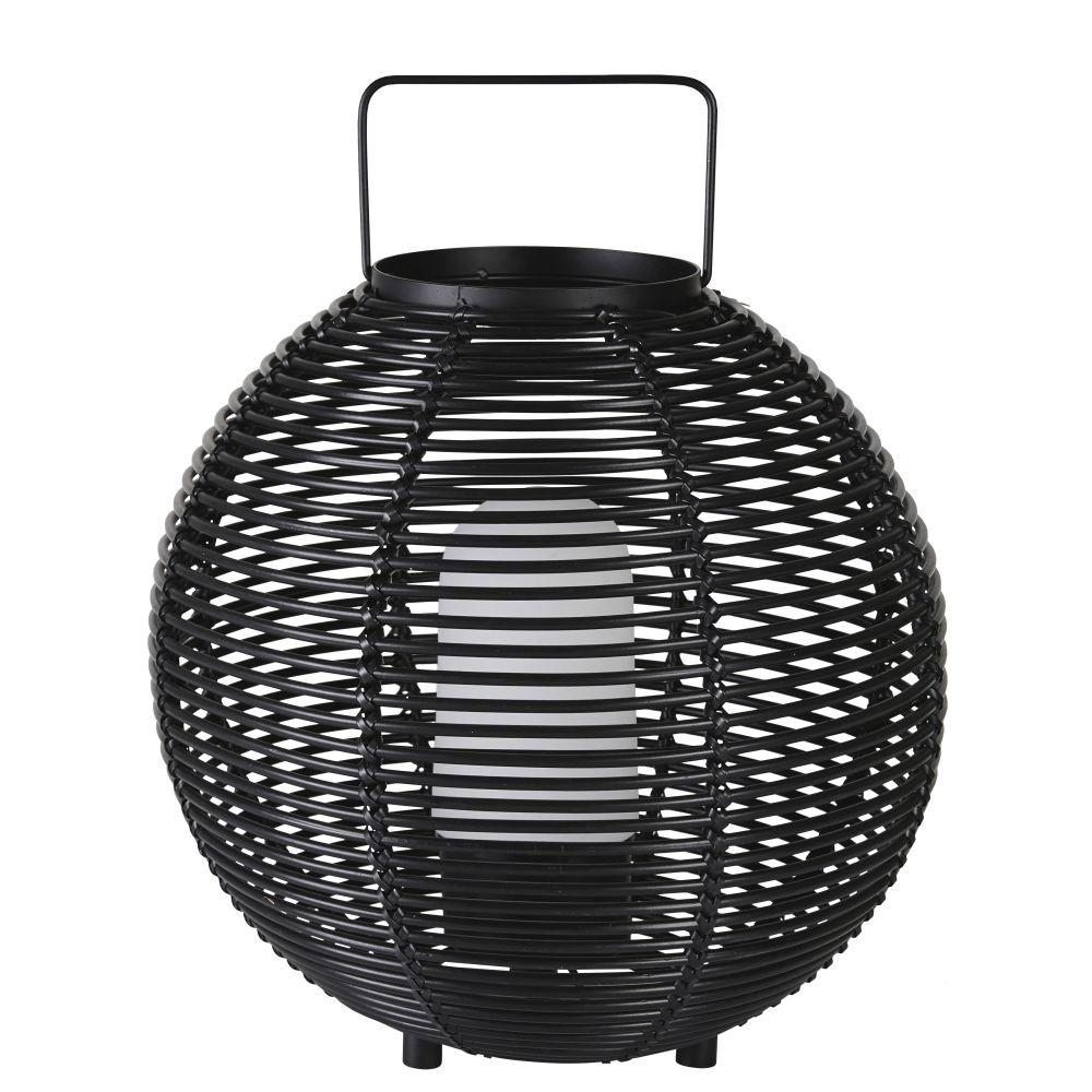 Lanterne lumineuse d'extérieur tressée noire