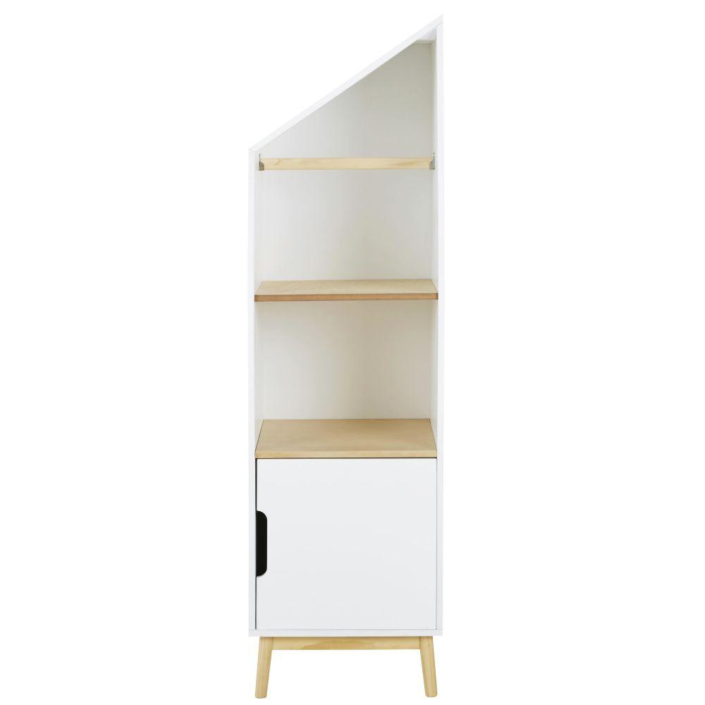 Libreria bambino casa modulabile lato destro con 1 anta bianca