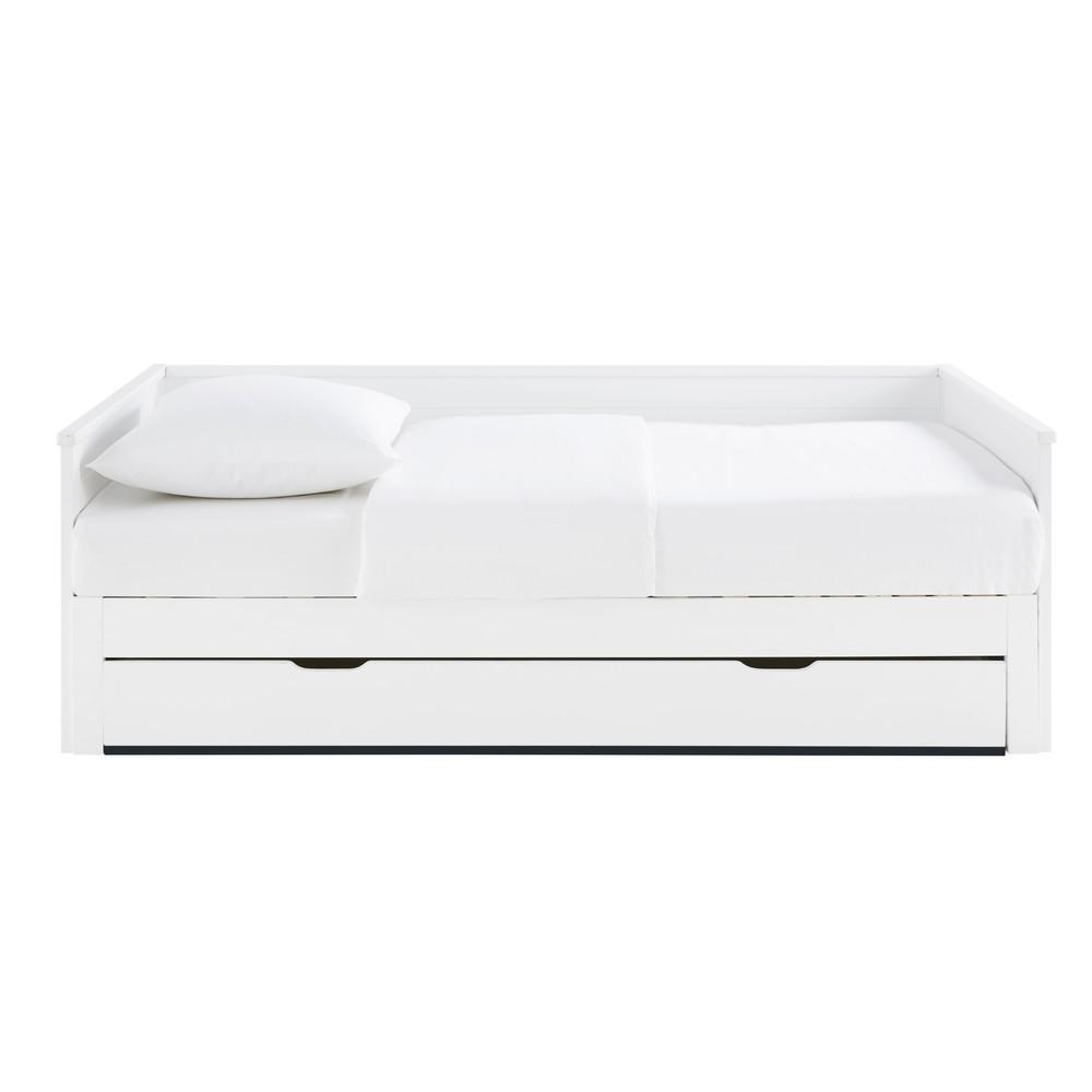 Lit extensible 90x190 blanc