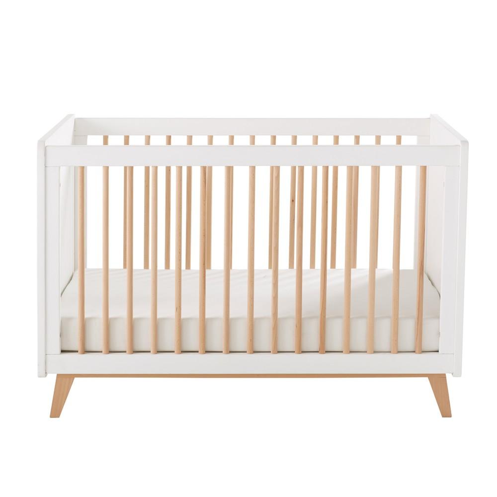 Lit vintage bébé à barreaux L125
