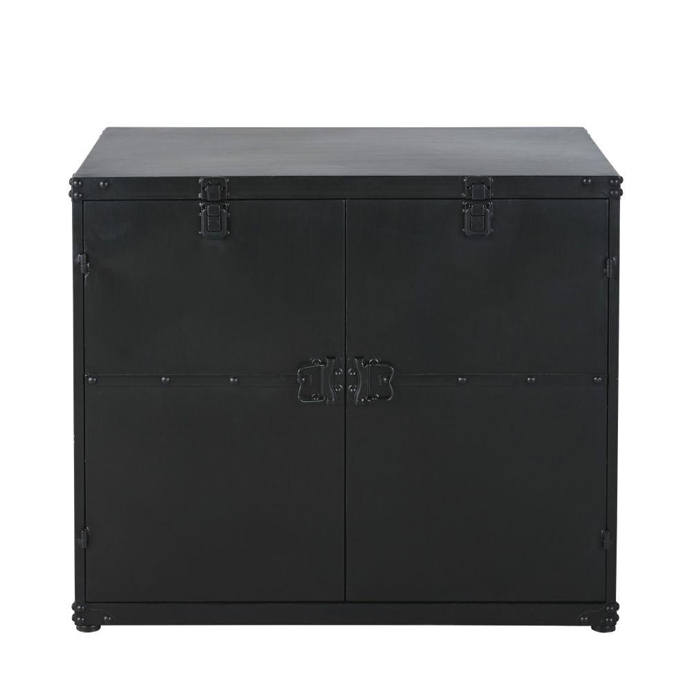 Malle indus 2 portes en métal noir