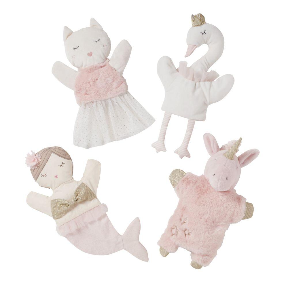 Marionnettes blanche et rose (x4)