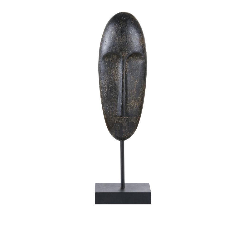 Masque africain sur socle noir H46