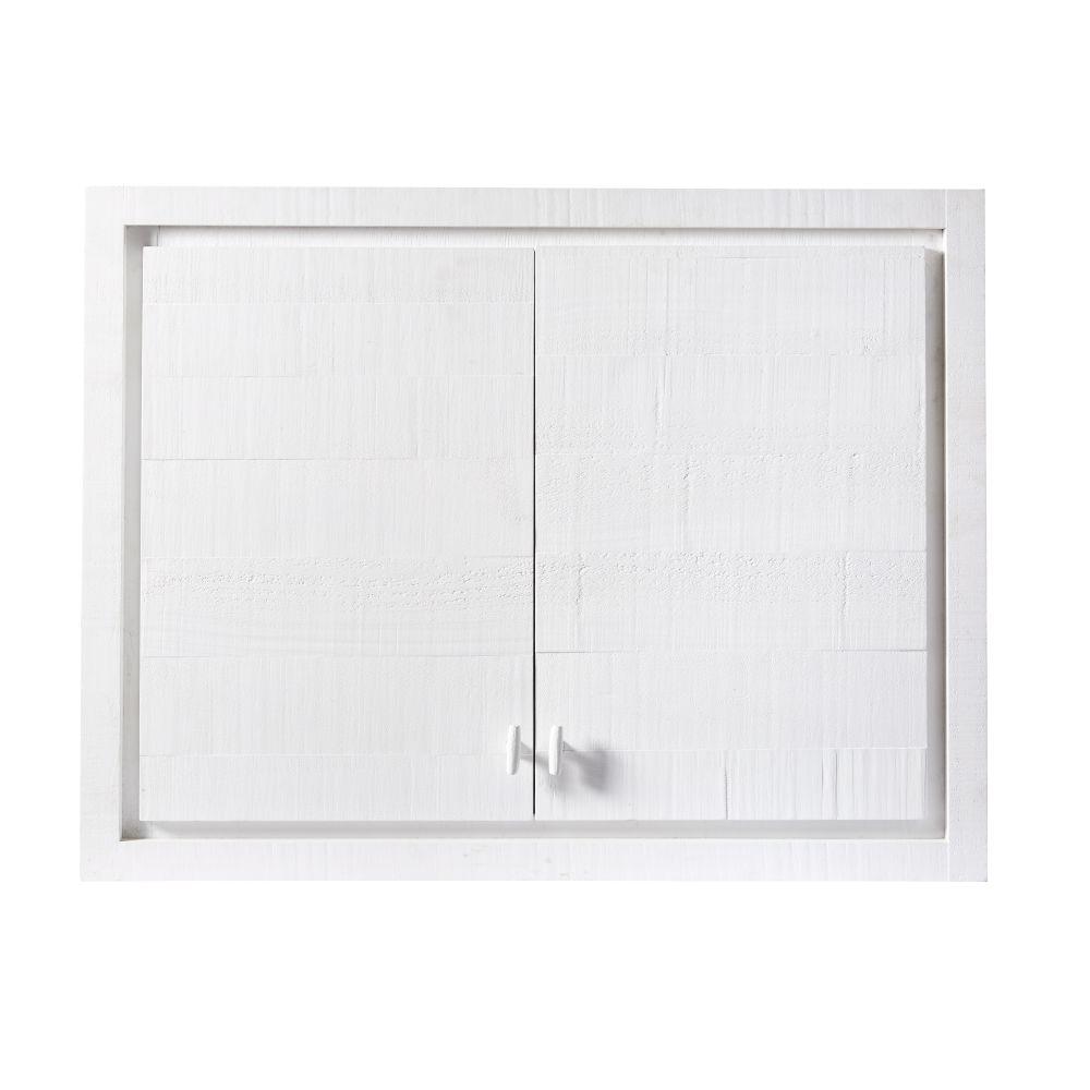 Meuble haut de cuisine 2 portes blanc (photo)