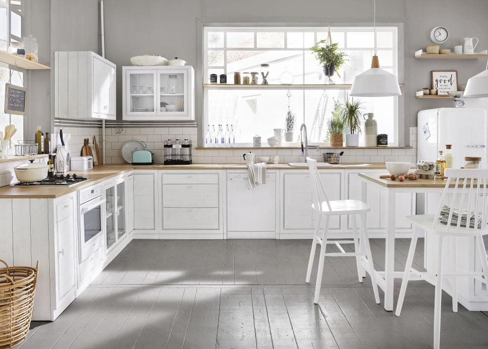 Meuble haut de cuisine 2 portes blanc