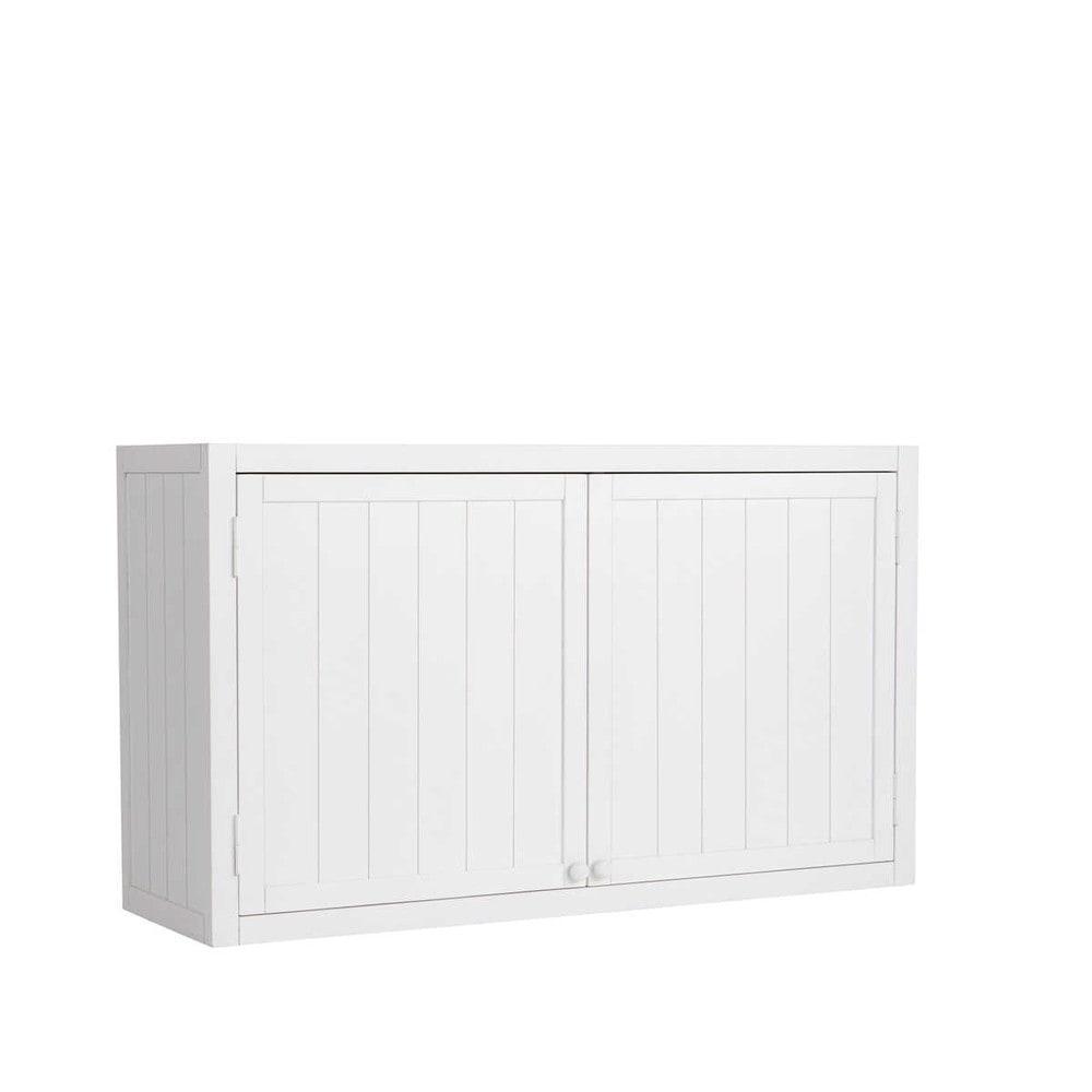 Meuble haut de cuisine en pin blanc L120