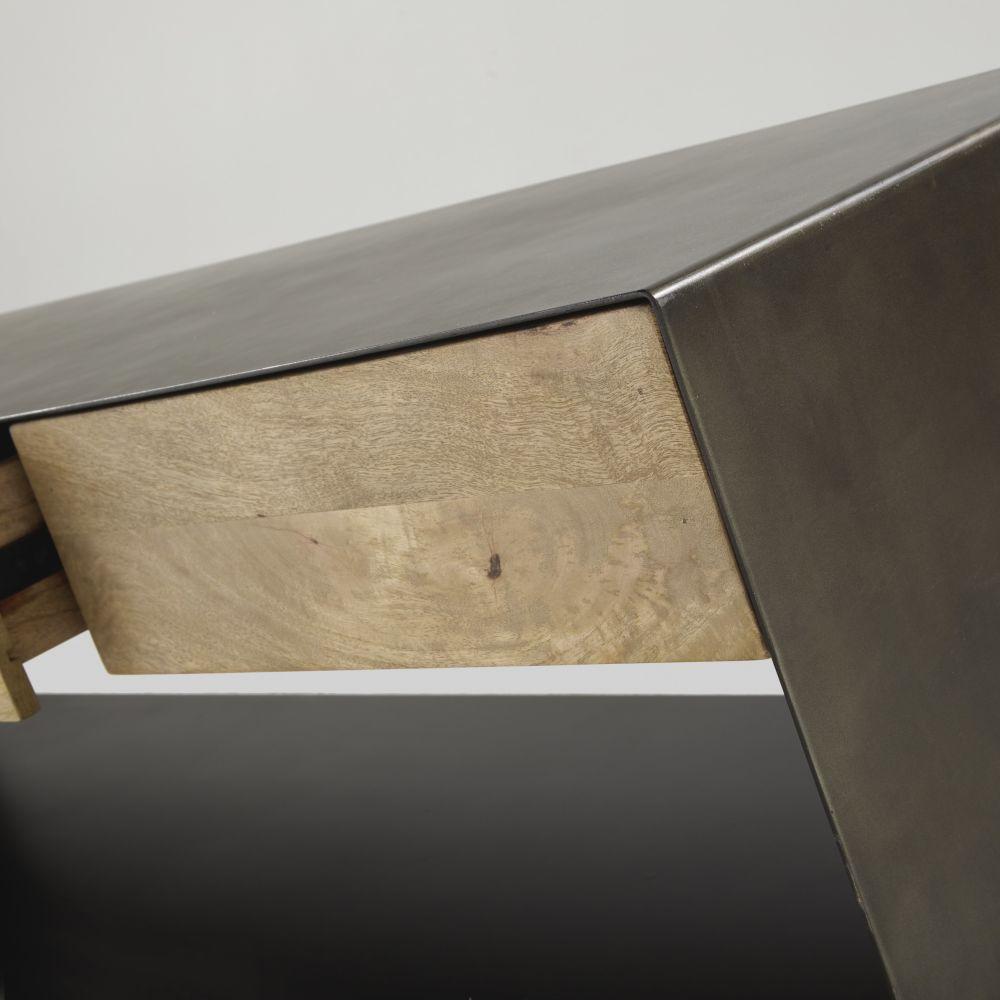 Meuble TV indus 3 tiroirs noir