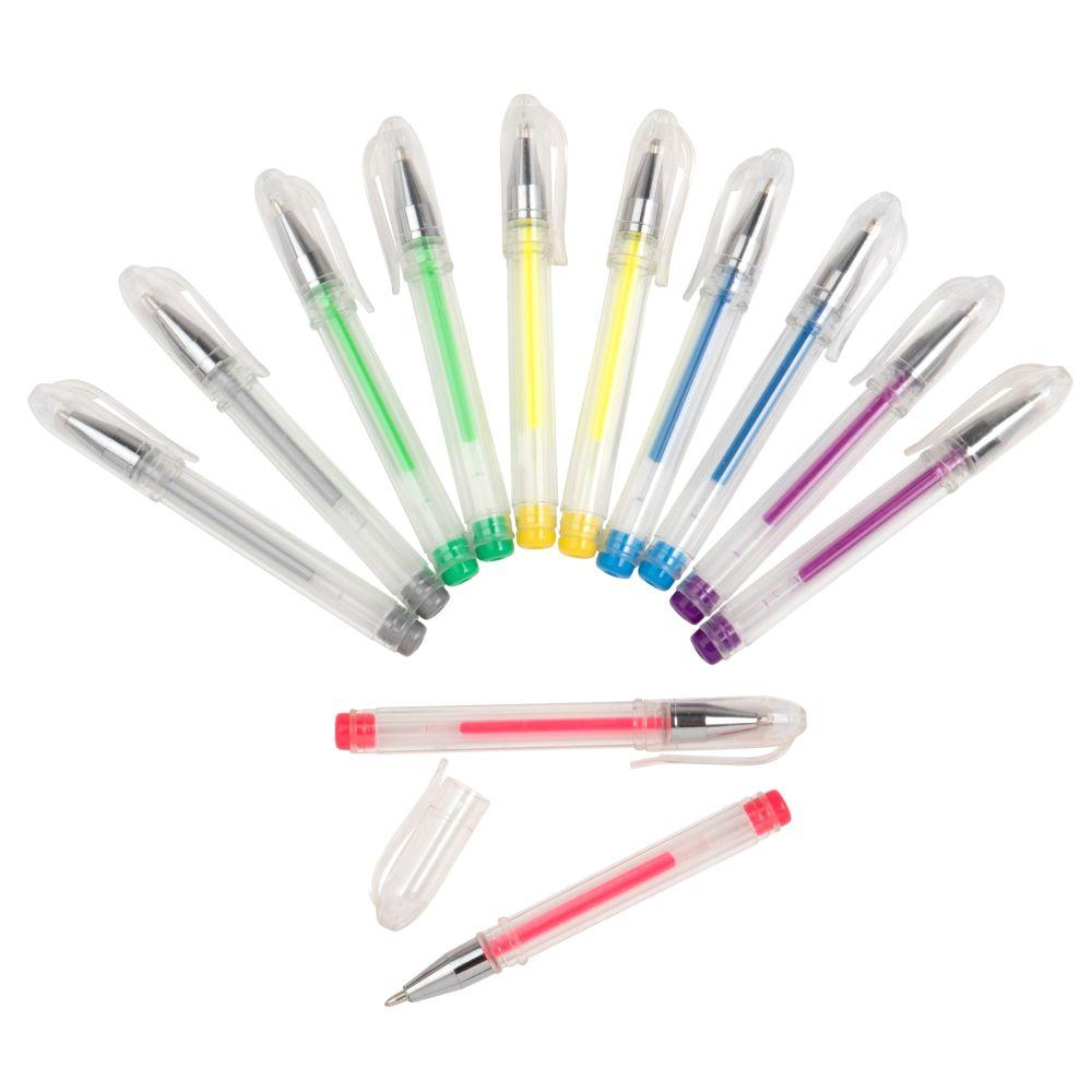 Mini stylo à billes multicolores (x12)