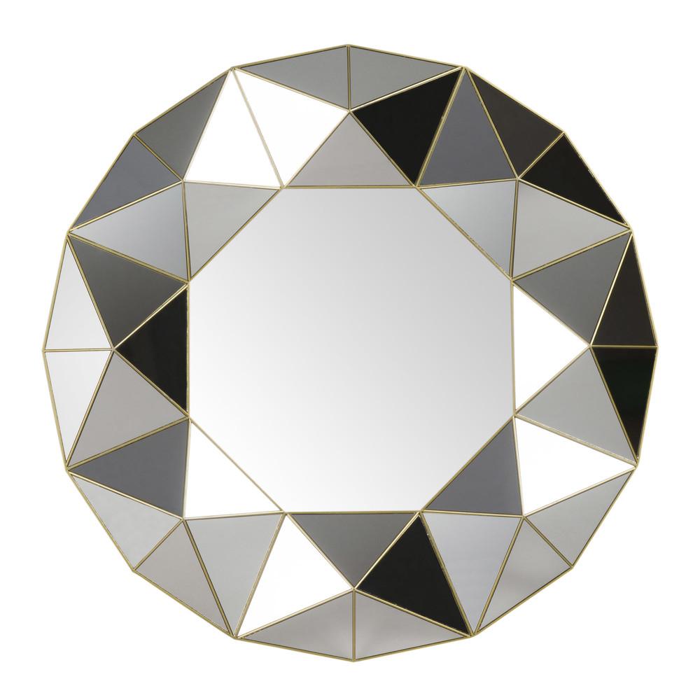 Miroir à reliefs géométriques D60