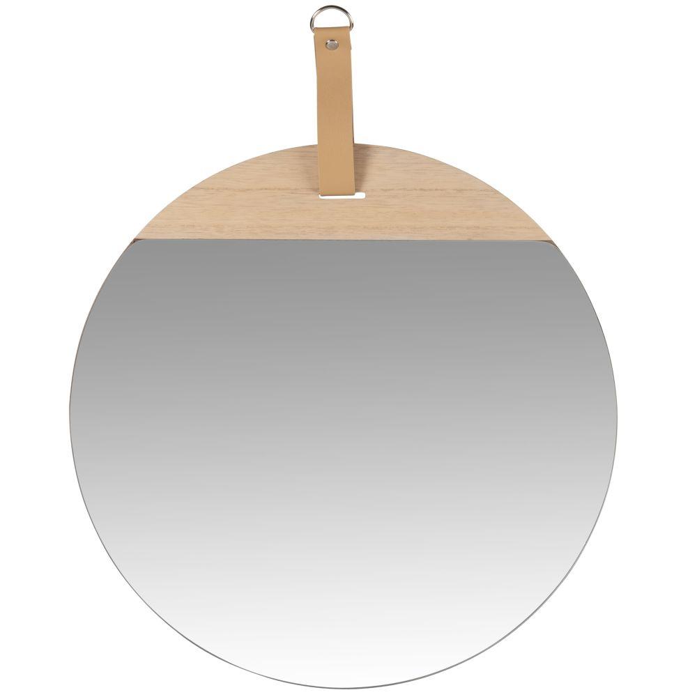 Miroir à suspendre beige 40x50