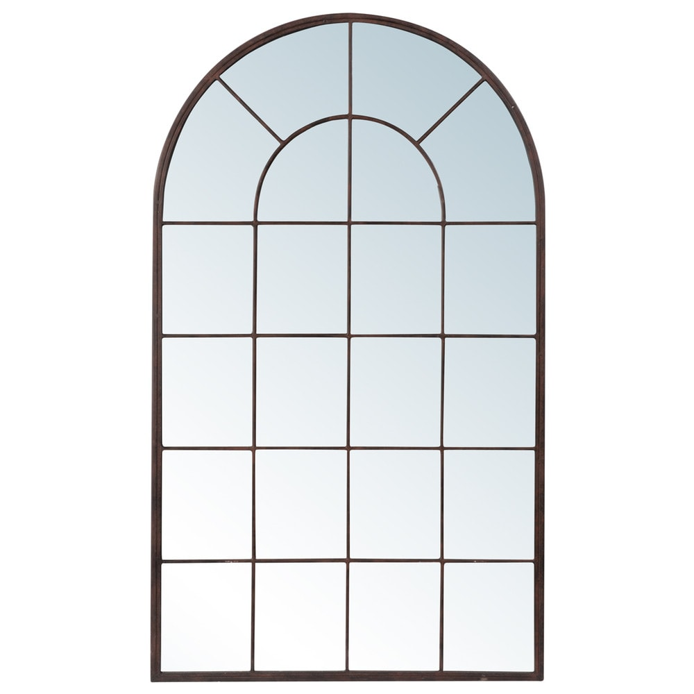 Miroir arcade en métal 65x110