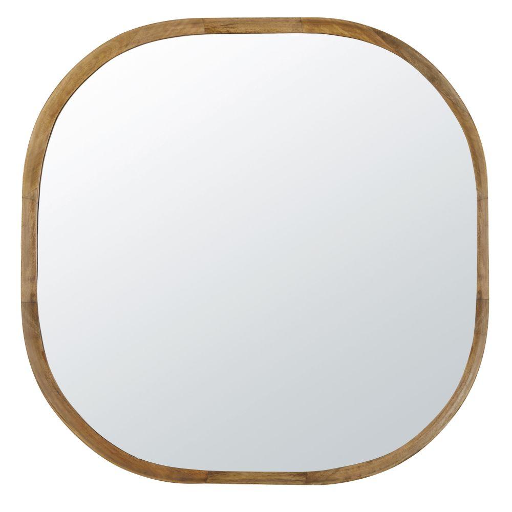 Miroir arrondi en manguier 109x108