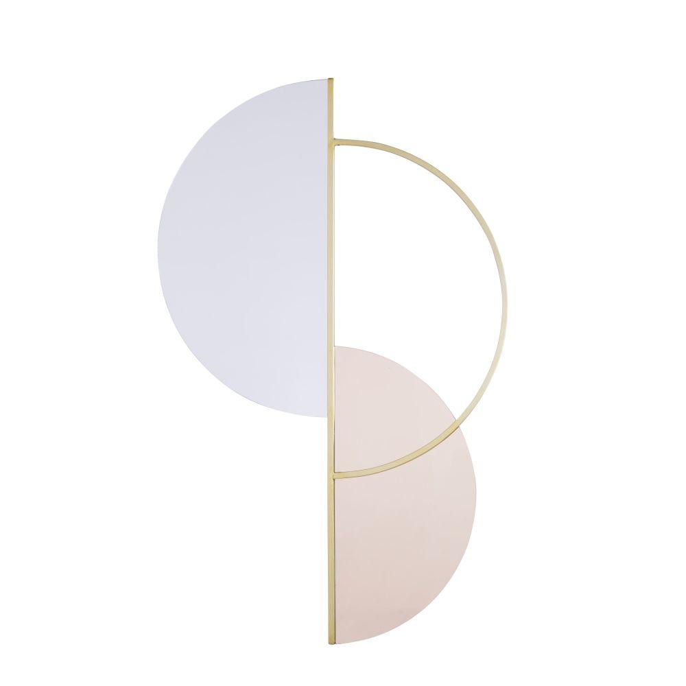 Miroir asymétrique en métal doré 70x110