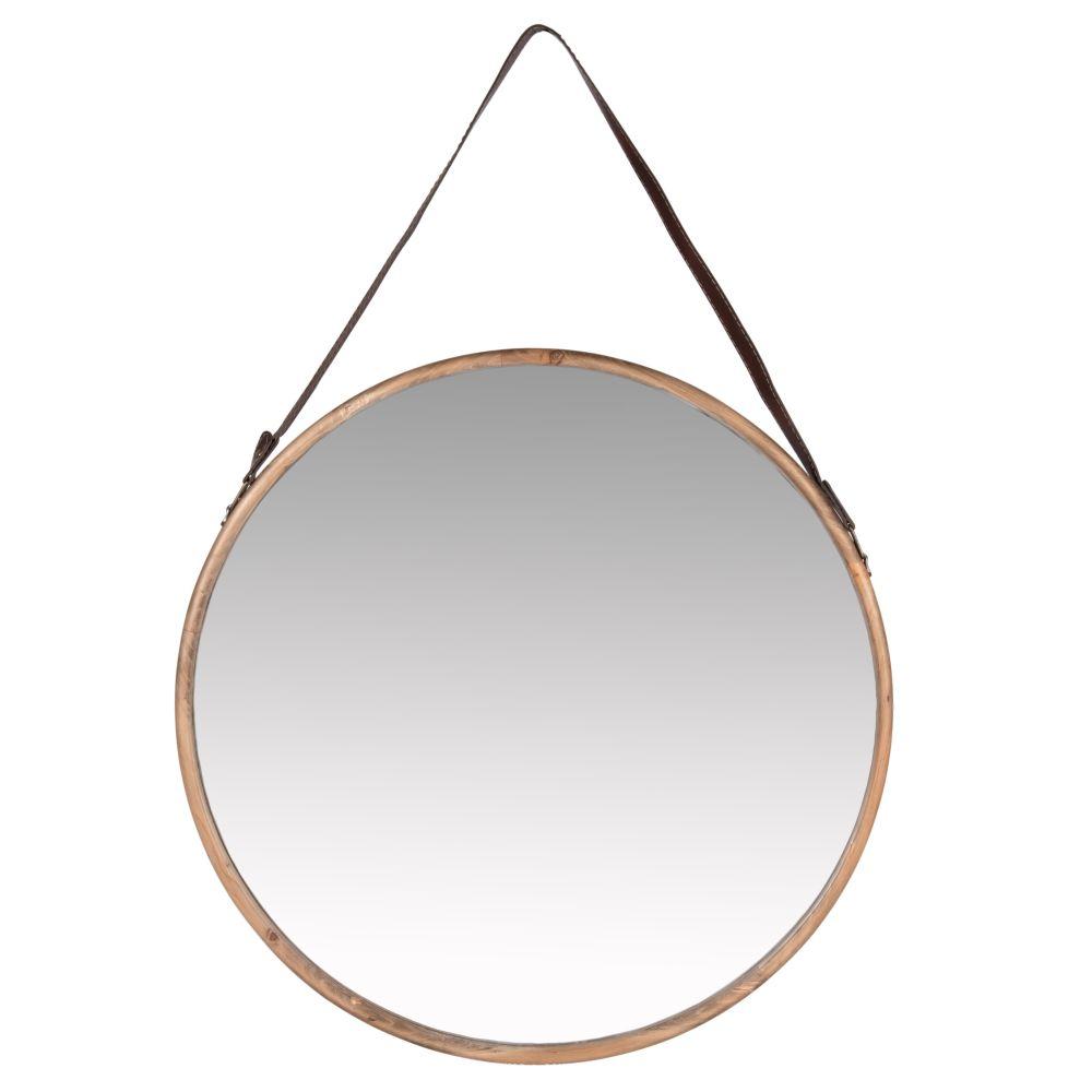 Miroir avec anse marron D58