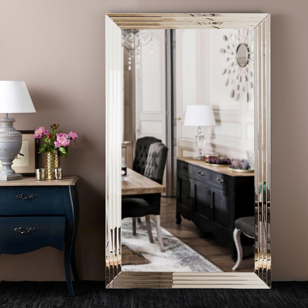 Miroir biseauté argenté 200x120