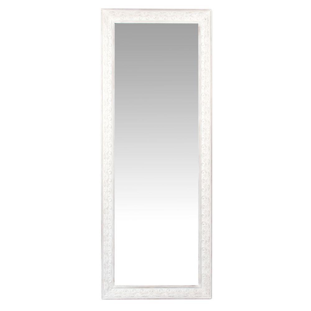 Miroir blanc grisé 50x130