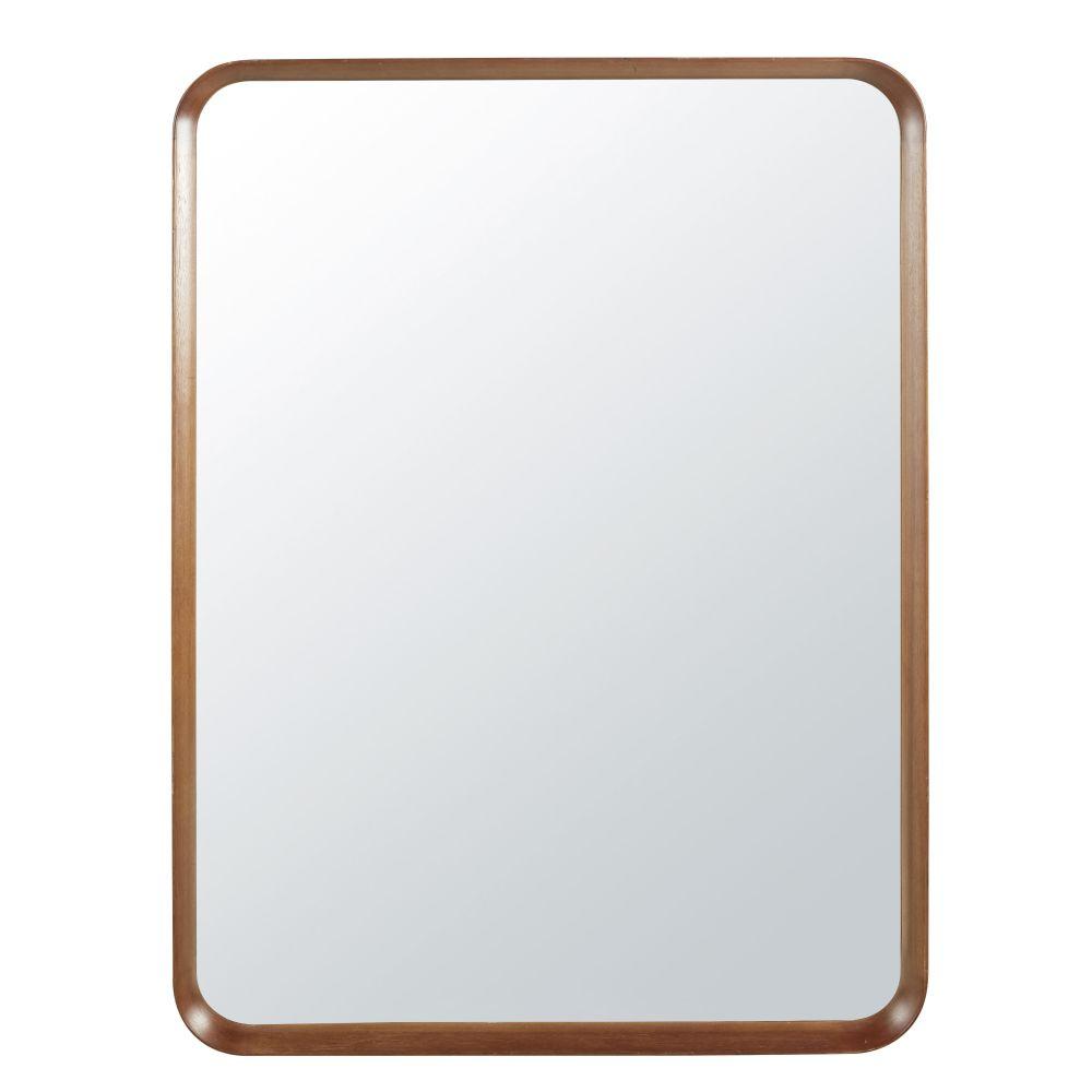 Miroir bords arrondis en paulownia 90x120