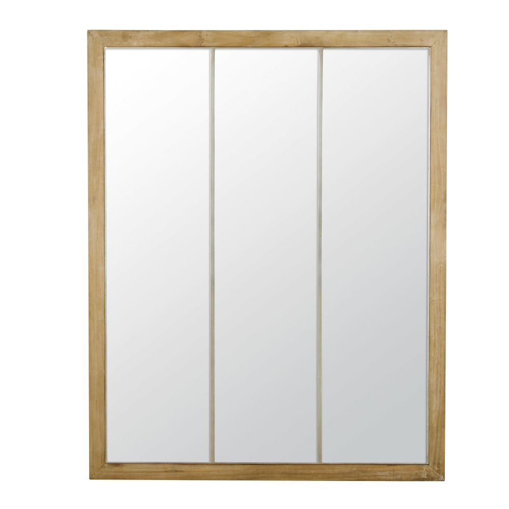Miroir coloris gris et naturel 95x120