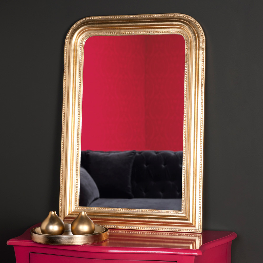Miroir doré en paulownia 95x65