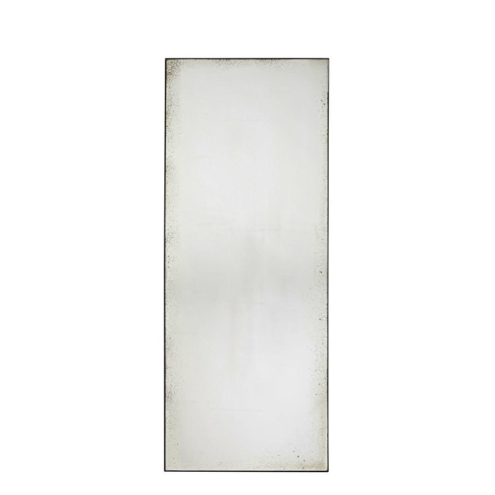 Miroir effet vieilli en métal noir 70x180