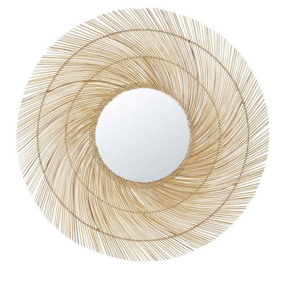 Miroir en bambou D100