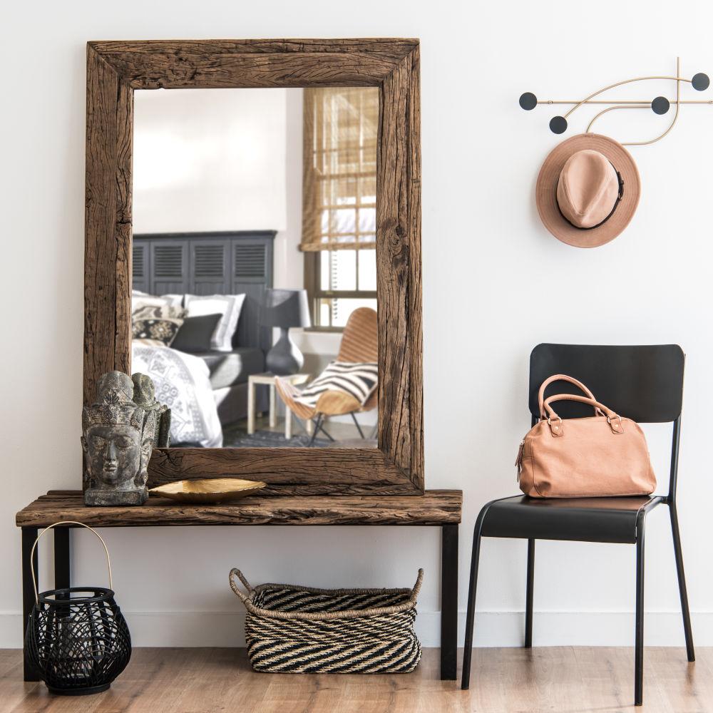 Miroir en bois recyclé 90x120