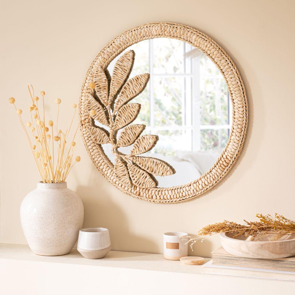 Miroir en fibre de maïs beige D60