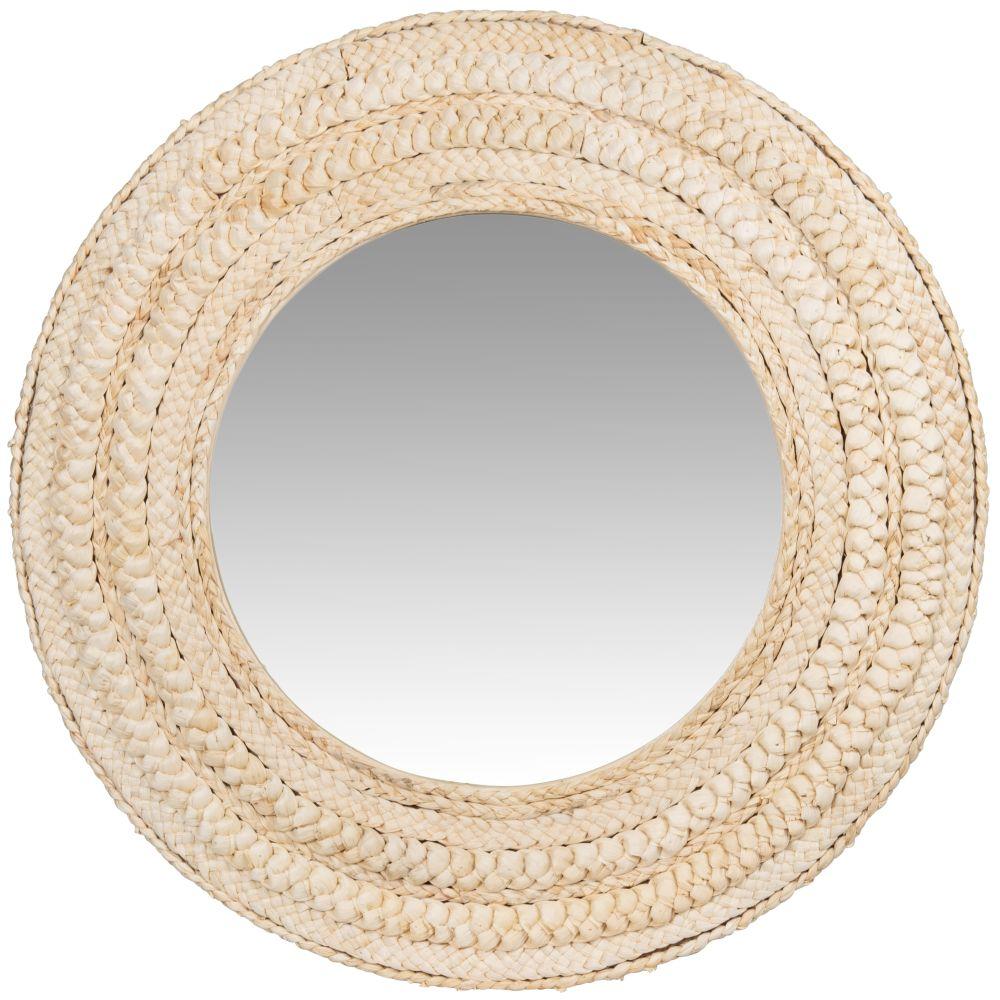 Miroir en fibre de maïs beige D62