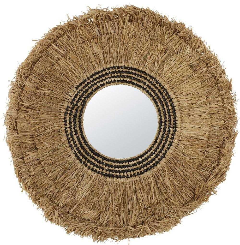 Miroir en fibre végétale 96x96