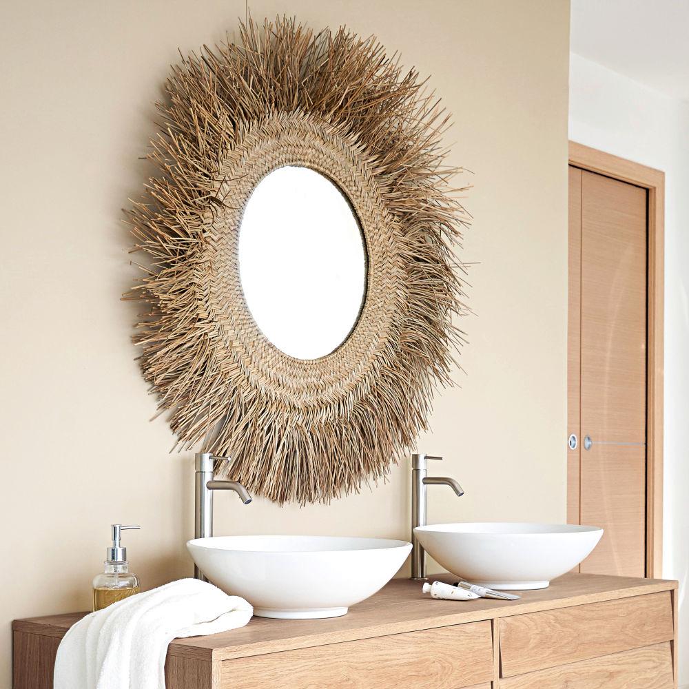 Miroir en fibre végétale D92