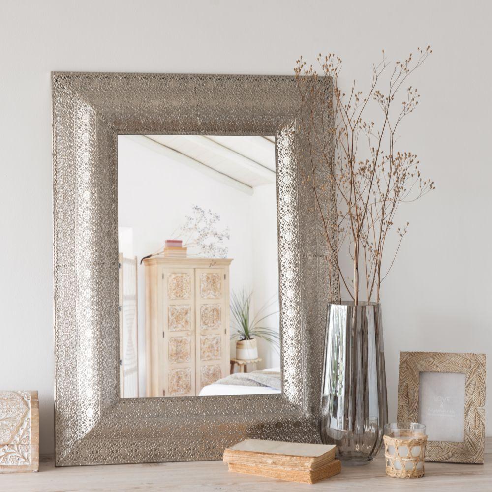 Miroir en métal à motifs 59x79