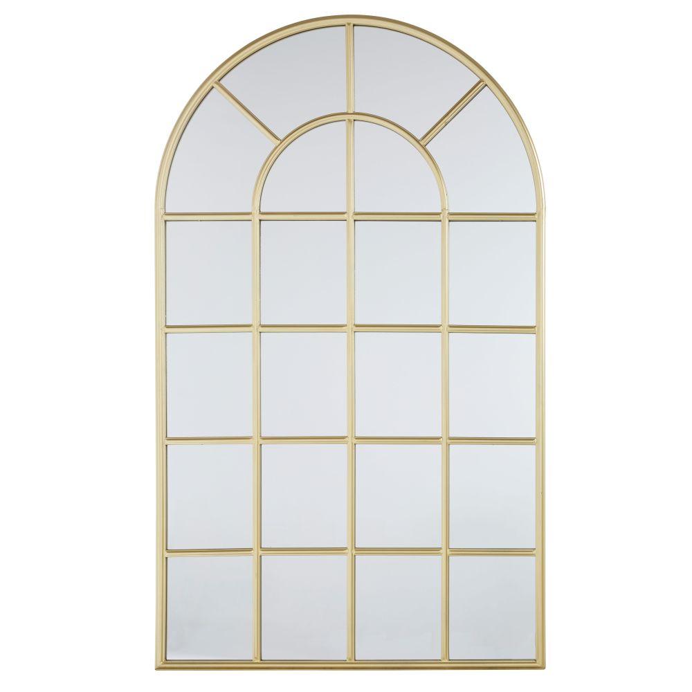 Miroir en métal doré 100x180