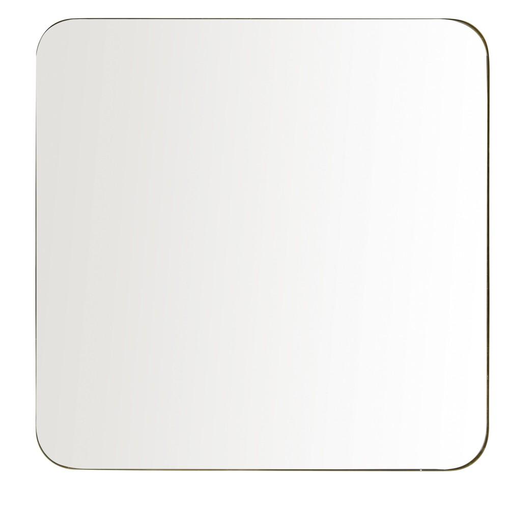 Miroir en métal doré 110x110