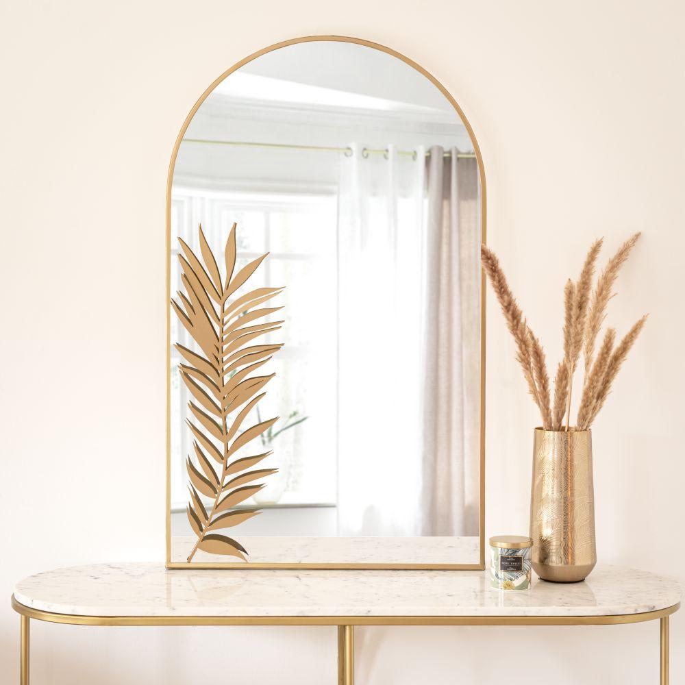 Miroir en métal doré 60x100