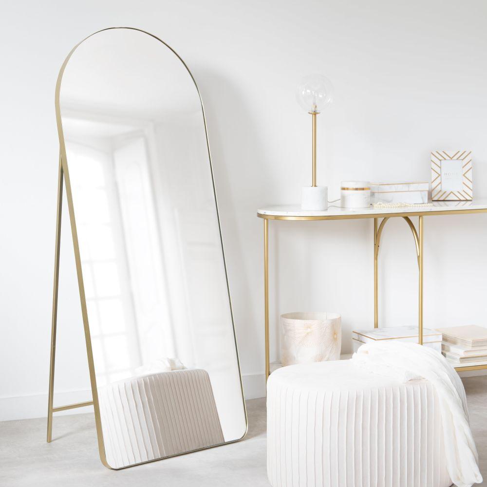 Miroir en métal doré 60x150