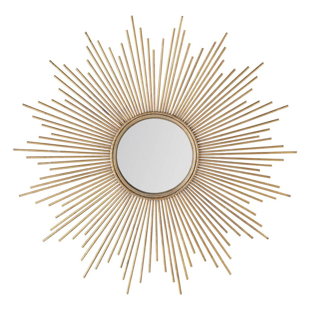 Miroir en métal doré D99