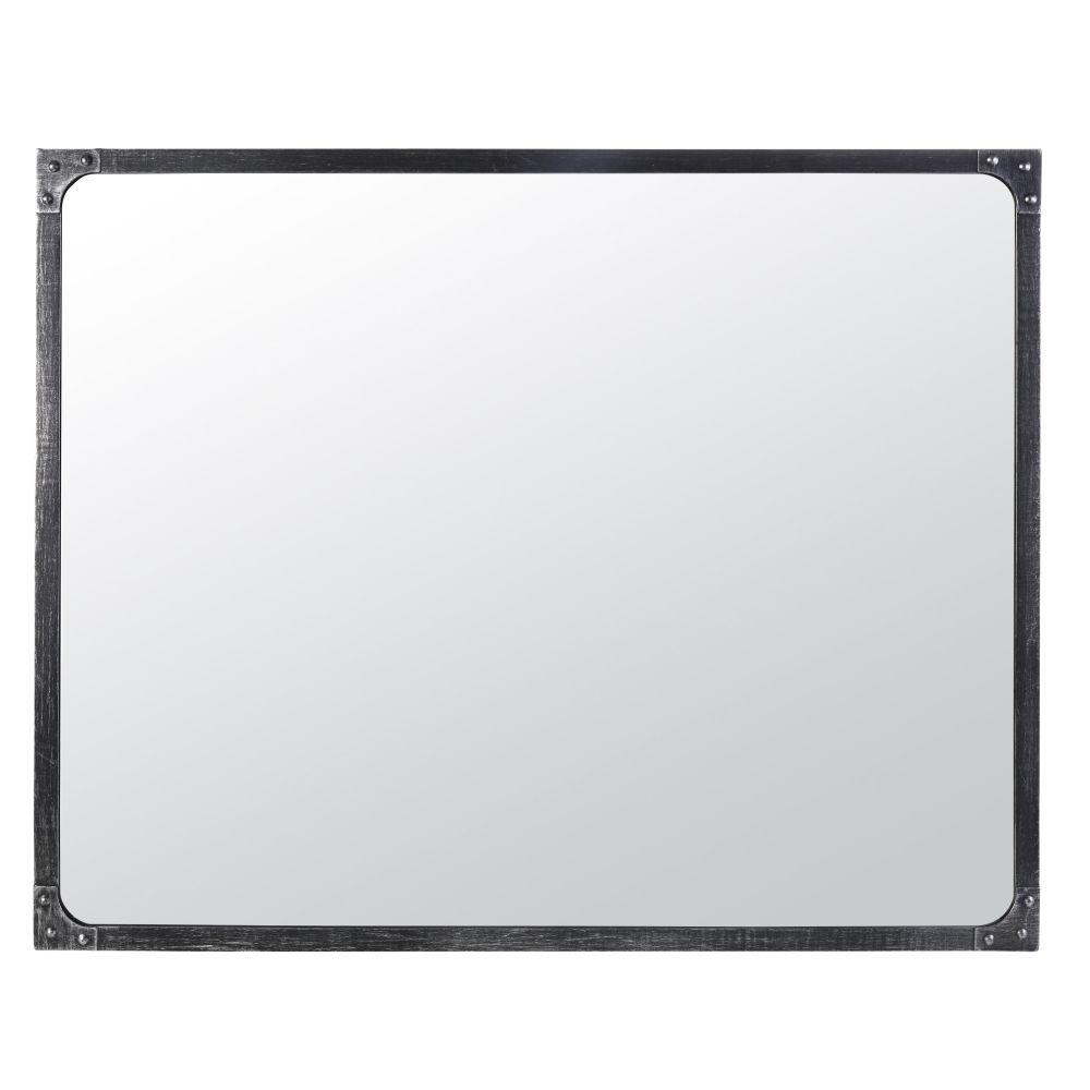 Miroir en métal effet vieilli 80x100