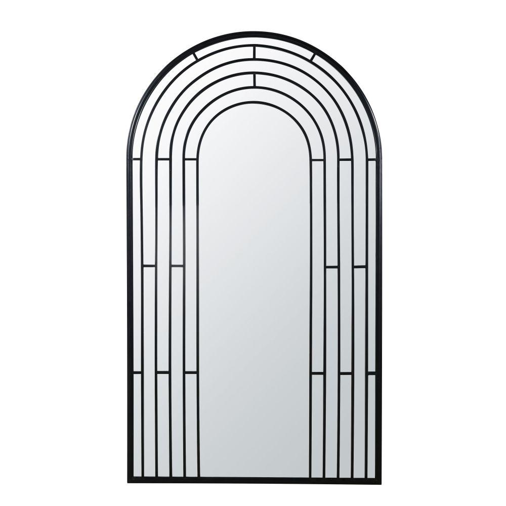 Miroir en métal noir 102x180