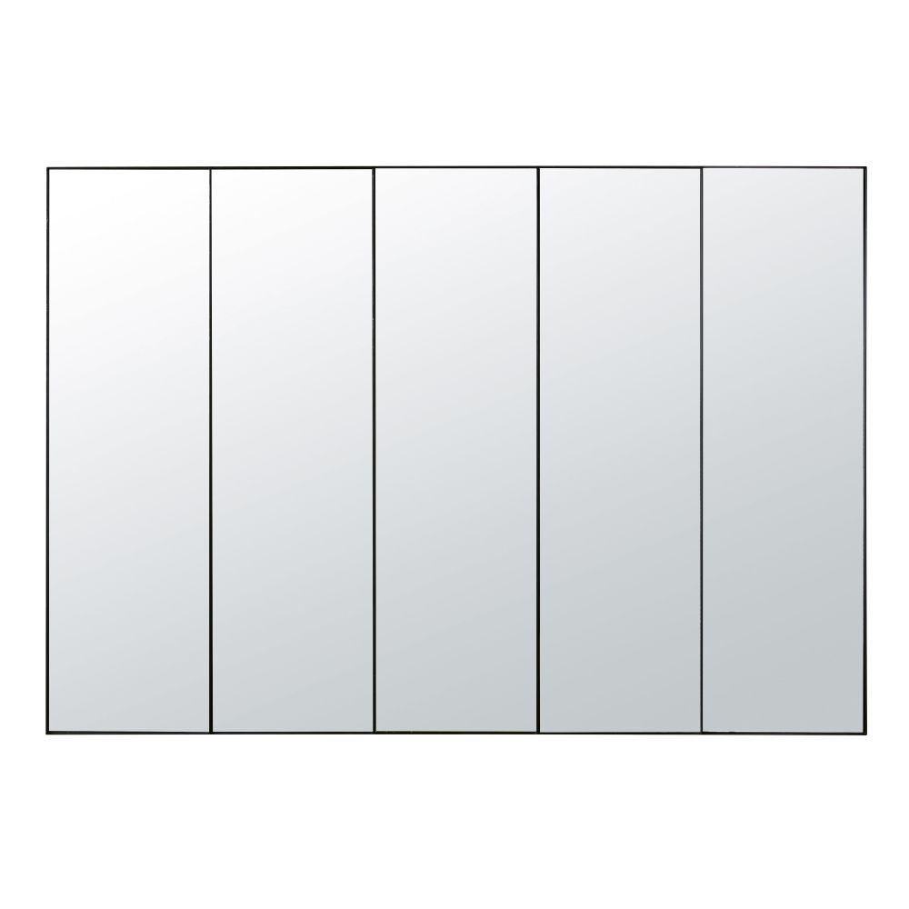 Miroir en métal noir 180x124