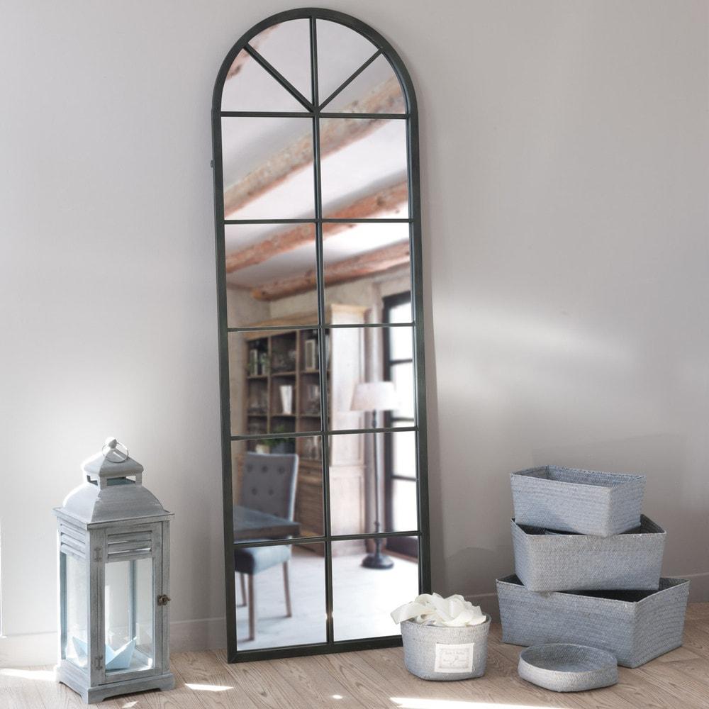 Miroir en métal noir 59x180