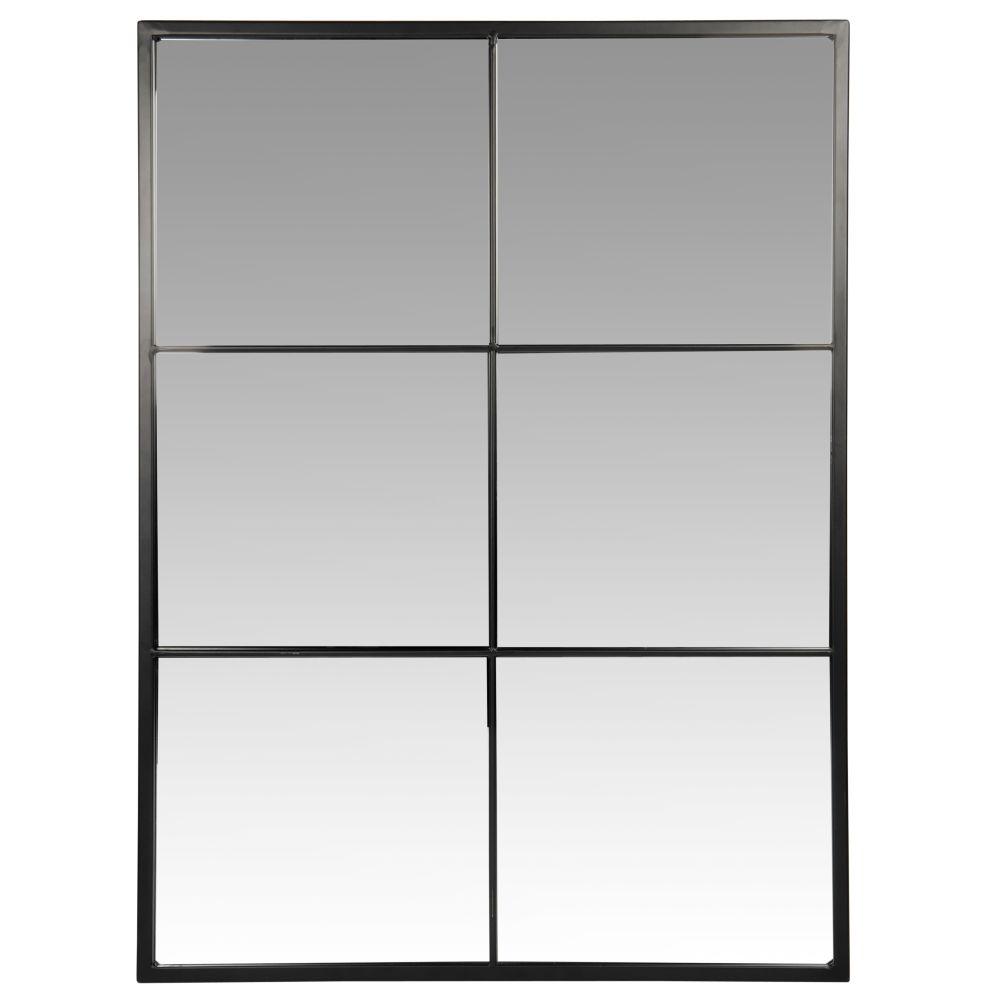 Miroir en métal noir 60x80