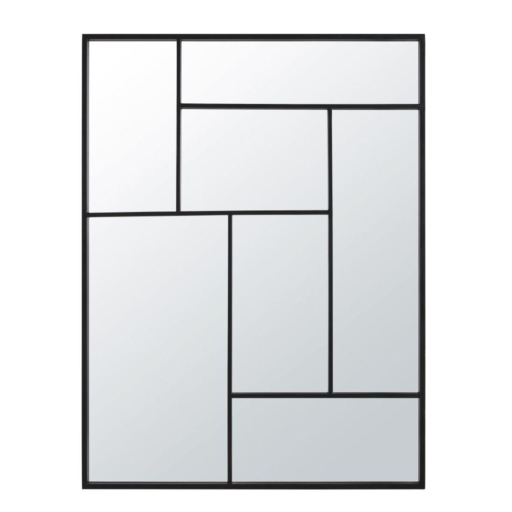 Miroir en métal noir 91x121